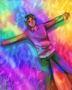 Has anyone drawn Alex making rainbow angels in Bifröst yet? Well, here you go. I am here to burn your retinas.