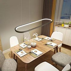 Annular LED Pendant Light Chandelier Lighting Ambient Light -LED Integrated Dimmable With Remote Control - All For Light İdeas Diy Pendant Light, Led Pendant Lights, Pendant Light Fixtures, Chandelier Lighting, Pendant Lamp, Hall Lighting, Lighting System, Deco Led, Lampe Decoration