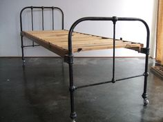 Antique cast iron single bed