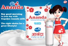 Say good morning to your day with #GopaljeeAnanda  #Milk  - The right choice for a great lifestyle!