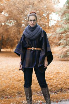 DIY Wool Blanket Coat (Cape or Poncho)