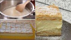 Cel mai Pufos si Aromat Cremsnit! Am primit reteta asta de la un Bucatar cu 3 stele! Uite cum se face… - dr. Andrei Laslău Dessert Recipes, Desserts, Vanilla Cake, Nom Nom, Pudding, Sweets, Bread, Products, Pastries