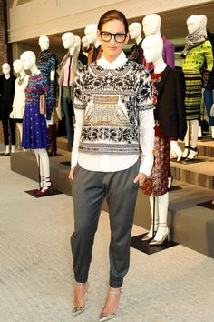 Jenna Lyons is one of my style icons, the J.Crew creative director that practically invented mens-wear as womenswear. Fashion Week, Look Fashion, Winter Fashion, Street Fashion, Fashion Photo, Fashion 2016, Street Chic, Looks Chic, Looks Style