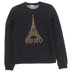 KENZO Black Cotton Knitwear   Vestiaire Collective