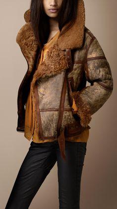 Shearling Aviator Jacket   Burberry