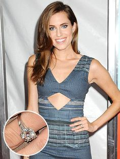 Allison Williams' engagement ring - click ahead for 30 more celebrity rings