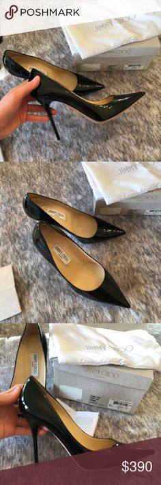 8f0f7ae442 Jimmy Choo Abel Black Pumps -New with tags -Authentic -Black patent leather  -Runs true to size -Gorgeous and will go with anything 😍 Jimmy Choo Shoes  Heels