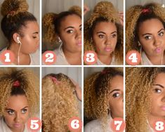 Candi Curls: 8 Quick and Easy everyday curly hairstyles Curly Hair Styles, Natural Hair Styles, Curls, Lips, Easy, Hairstyles, Curly Hairstyles, Crafts, Kids
