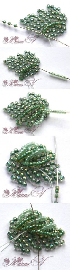 Russian (2.Pletem volume leaves | biser.info - all about beads and beaded works) RJK Fall leaves maybe