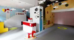 We have designed this interior for a kids party house. all credits: Sertan Özant Photos: Ömer Kanıpak