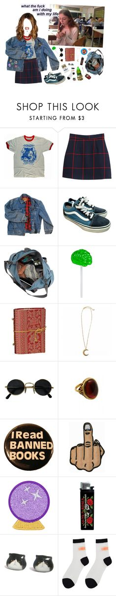 """""""messy"""" by rayssamalfoy ❤ liked on Polyvore featuring Chicnova Fashion, Wrangler, Vans, Rock 'N Rose, Stay Home Club, Auslander, Dollhouse and Samsung"""