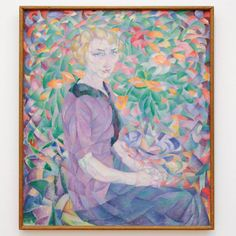 Leo Gestel - Vrouw tussen bloemen - Olieverf op doek 1913