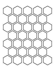 Winckelmans Hexagon Bleu 50 x 50 x 5 (op net)
