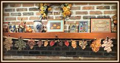 Fall has always been the season when I really get my creative juices flowing. During one Fall season I was dabbling in quilted and embroidered leaf ornaments, buntings or garlands, and 3D mini-quilts. This free e-book shows you how to make the embroidered leaf ornaments garland with 12 embroidered leaves shown in the picture. Fall Crafts, Arts And Crafts, Embroidered Leaves, Leaf Garland, Buntings, Book Show, Love Is Free, Mini Quilts, Fall Season
