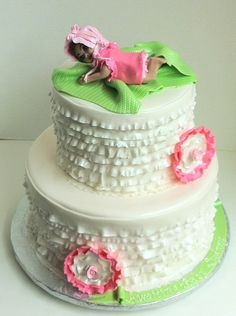 Minus the topper this cake is cute. Baby Shower Cakes Harrisburg -  Sweet Confections Cakes