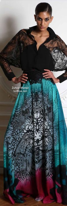 LOVE LOVE LOVE THIS ESPECIALLY THE TOP!!!!!!! -- Zuhair Murad Fall 2014-15 Ready to Wear