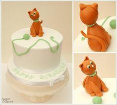 Little Ginger ... Ginger cat birthday cake https://www.facebook.com/SugarandSpiceGourmandise