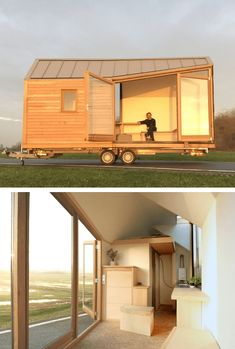 Porta Palace by WoonPioners Tiny Home on Wheels Design Ideas Tiny House Design design Home ideas Palace Porta Tiny Wheels WoonPioners Small Tiny House, Modern Tiny House, Tiny House Cabin, Tiny House Design, Tiny House On Wheels, Timbercraft Tiny Homes, Steel Cladding, Tumbleweed Tiny Homes, Little Houses