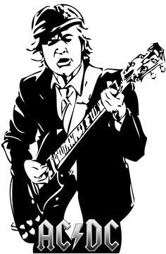 Illustrative Design Rock And Roll Bands, Rock N Roll, Music Rock, Digital Foto, Stencil Art, Stenciling, Silhouette Art, Scroll Saw Patterns, Rock Legends