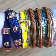 Pile Up Bangles from Andy's Closet
