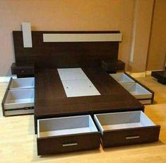 trendy bedroom storage built in drawers Bedroom Cupboard Designs, Bedroom Cupboards, Bedroom Closet Design, Bedroom Furniture Design, Modern Bedroom Design, Home Room Design, Bed Furniture, Home Decor Furniture, Bed Designs With Storage