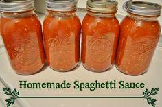 DIY Homemade Spaghetti Sauce #Recipe