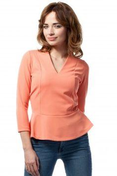 Lingerie, Peplum, V Neck, Long Sleeve, Sleeves, Model, Tops, Fashion, Blouses