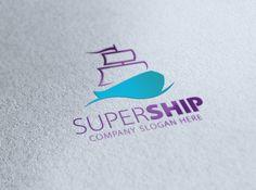 Super Ship Logo by eSSeGraphic on @creativemarket