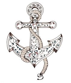 anchor #drawing #anchor #nautical