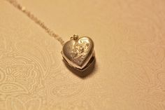 Vintage Sterling Silver Heart Locket Mourning by CrucibleCrow, $52.00