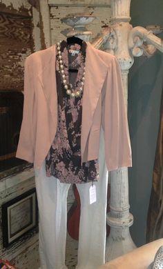 CAbi STYLE IT! #Fall 2013 Print Wrap Top w/Vintage CAbi IT Jacket & Stella Jeans