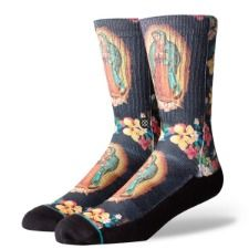 Stance Socks MADRE SANTA Brand New! virgin mary flowers our lady of guadalupe Latest Shoes, New Shoes, Skateboard Fashion, Santa Socks, Socks For Sale, Premium Brands, Men Online, Our Lady, Shoes