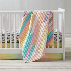 New Wave Nautical Baby Quilt | The Land of Nod