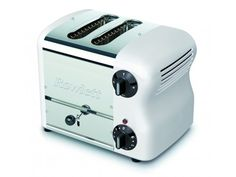 Rowlett Esprit Wide 2 Slice Bread Toaster with Bun Mode in White - Toasters - Electronics