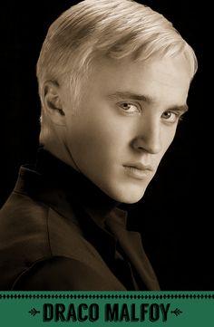Draco Malfoy, Slytherin. #HogwartsStudents #Hogwarts #HarryPotter #Slytherin #TomFelton