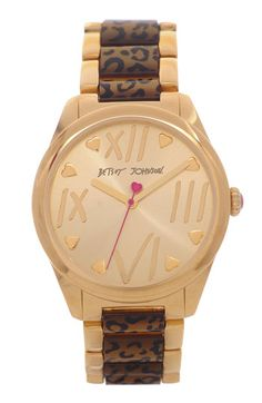Betsey Johnson Leopard Print Bracelet Watch available at #Nordstrom