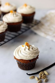 Grain-free Cardamom Vanilla Bean Cupcakes - Gluten-free and Dairy-free by Tasty Yummies, via Flickr