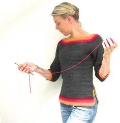 Un patrón simple, inspirado en los colores de hojas caídas y perfecto para tirar en para las tardes de otoñales más frescas. Desde arriba hacia abajo, en la ronda, con una única puntada, este es el modelo perfecto para un recién llegado al crochet la ropa, así como el profesional.