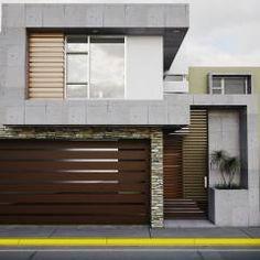 Fachada Vlad 861: Casas de estilo moderno por Modulor Arquitectura Modern Villa Design, Classic House Design, House Gate Design, House Front Design, New Home Designs, Cool House Designs, North Facing House, Modern Garage Doors, Townhouse Designs