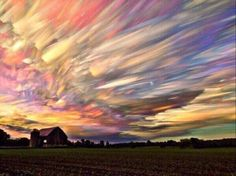 100 Sunsets in One. #Trippy #Psychedelic #Art #Beautiful