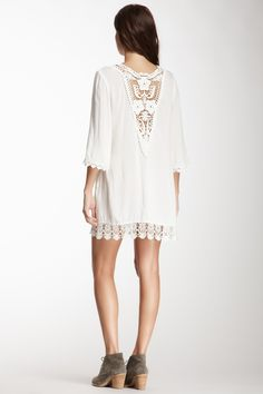 Crochet Yoke Tunic; this, would be, so, great, with jeans!