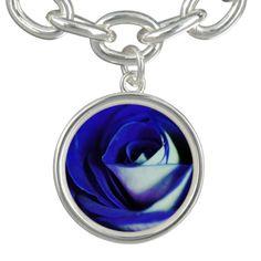 Blue rose with purple tones.