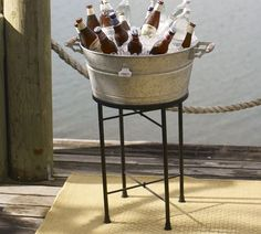 galvanized metal party bucket/stand - for backyard entertaining