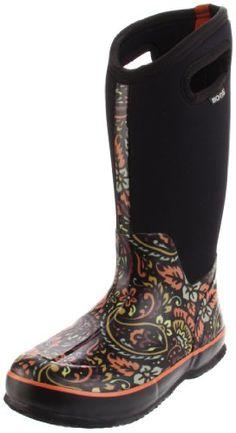 Bogs Women's Classic High Tuscany Rain Boot - Little Shoe Boutique Best Rain Boots, Cute Rain Boots, Muck Boots, Rubber Rain Boots, Shoe Boots, Shoes Sandals, Shoe Boutique, Outdoor Woman, Shoe Sale