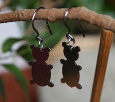 Cute bear earrings stainless steel earrings by HorakovaDesigns, $20.00