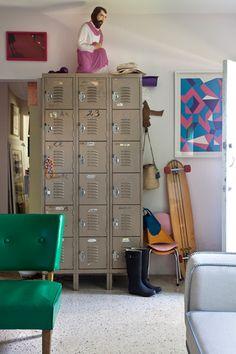 Vintage lockers - desire to inspire - desiretoinspire.net