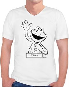 Elmo Çizim Kendin Tasarla - Erkek V Yaka Tişört