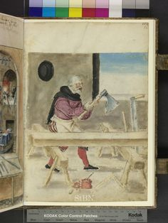 1580 Carpenter (Zimmerman) from Mendel Housebook.