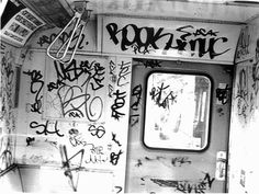 Graffiti Subway 1978 NYC Subway MTA B Train on The El  50th - 55th St Brooklyn by Whiskeygonebad, via Flickr
