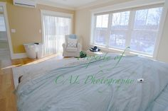 Master bedroom at enormous Newton townhouse rental - CAL Photography - listing photograph service in the Greater Boston area